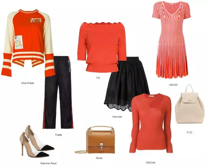 "Just love ""Pan Orange"", 19 spring and summer orange-red sweaters are popular!  (Figure 20)"