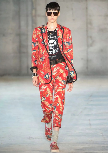 The 2019 spring and summer T-stage that is dominated by printed fabrics has no place to put on the personality!  (Figure 12)